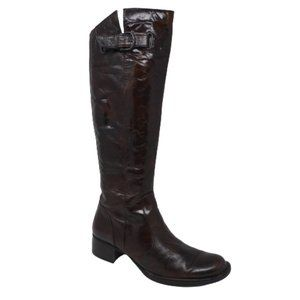 Born Lira Brown Leather Tall Riding Boots